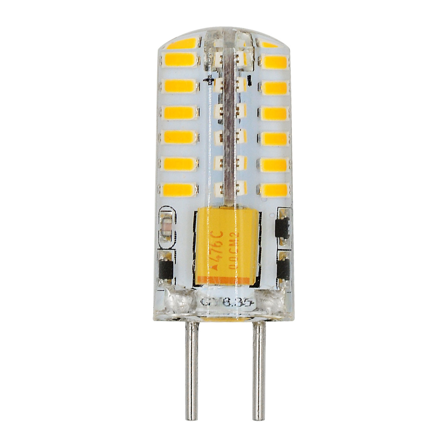 MENGS® GY6.35 2W LED Light 48x 3014 SMD LED Lamp Bulb AC/DC 12V In Warm White Energy-Saving Light