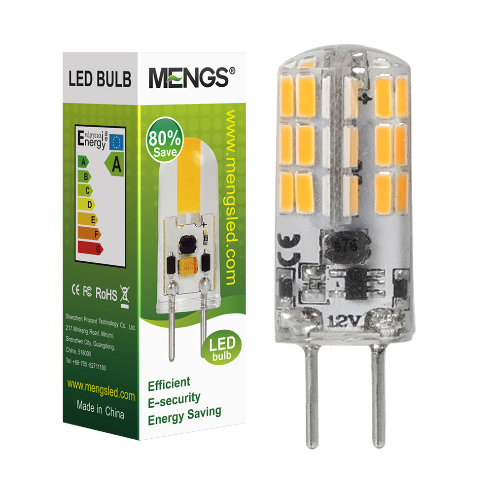 MENGS® Flicker-free GY6.35 4W LED Light 48x 4014 SMD LED Bulb Lamp AC/DC 12V In Cool White Energy-Saving Light