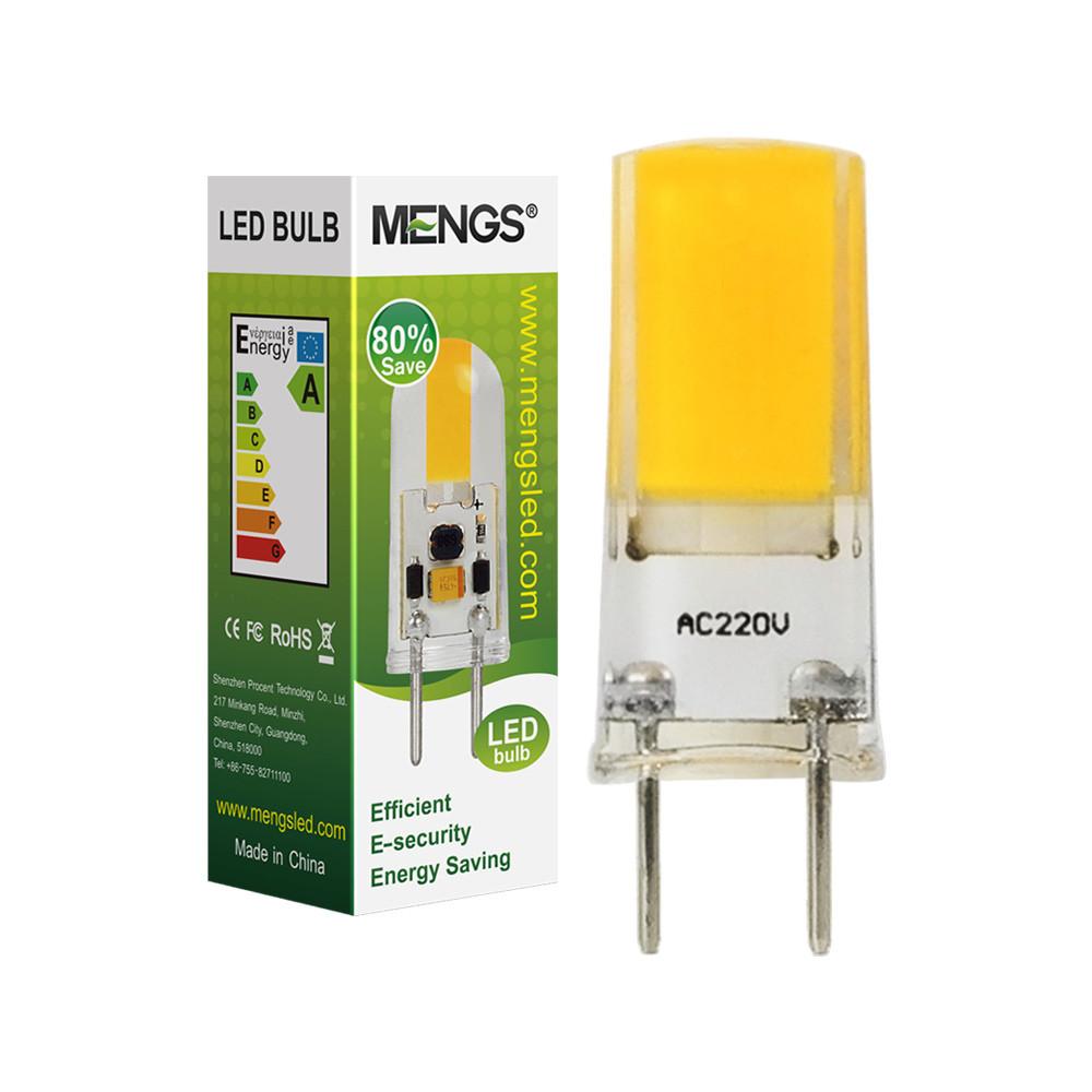 MENGS® G8 2W LED Light COB LED Bulb Lamp AC 220-240V In Warm White Energy-Saving Light