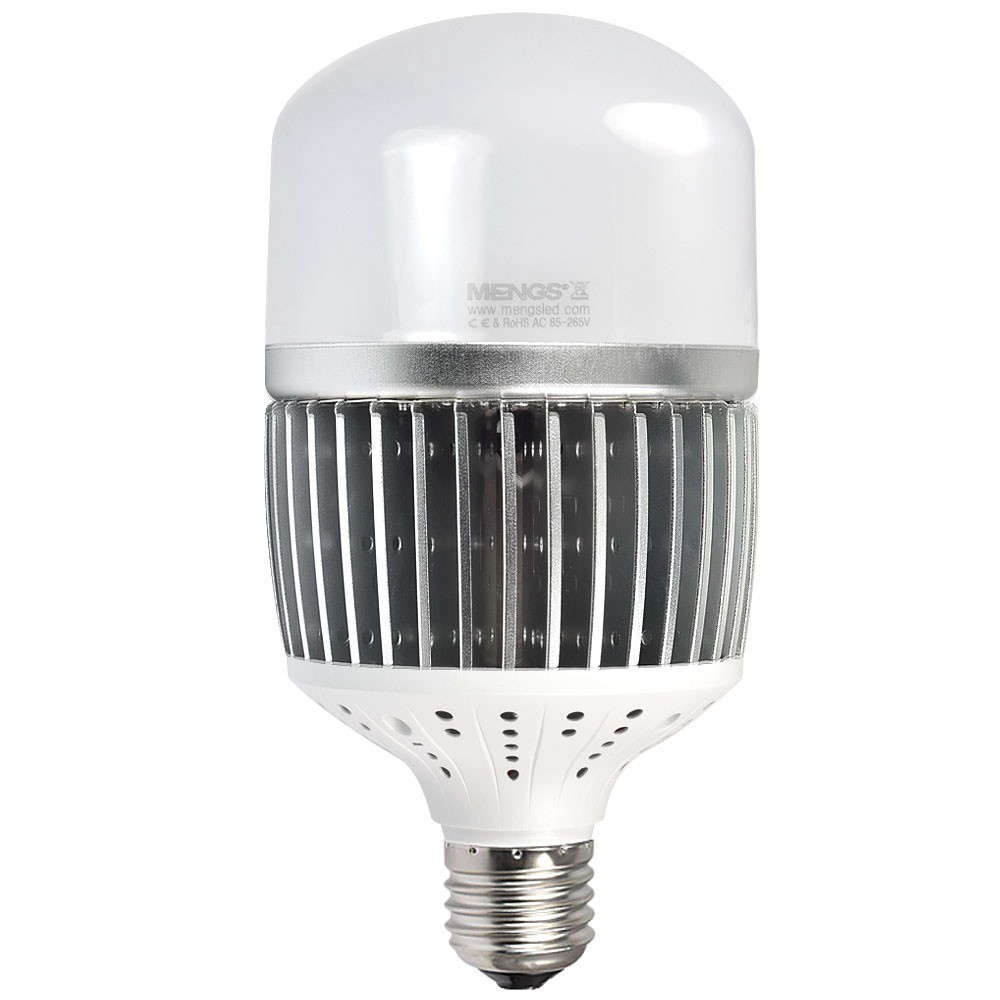 MENGS® CL-Q50W High Lumens E40 50W = 400W LED Globe Light With Aluminum Fin + PC Cover Neutral White AC 85-265V 6500LM For Factory Warehouse Workshop Garage Backyard Supermarket Exhibition Hall Stadium -Silver