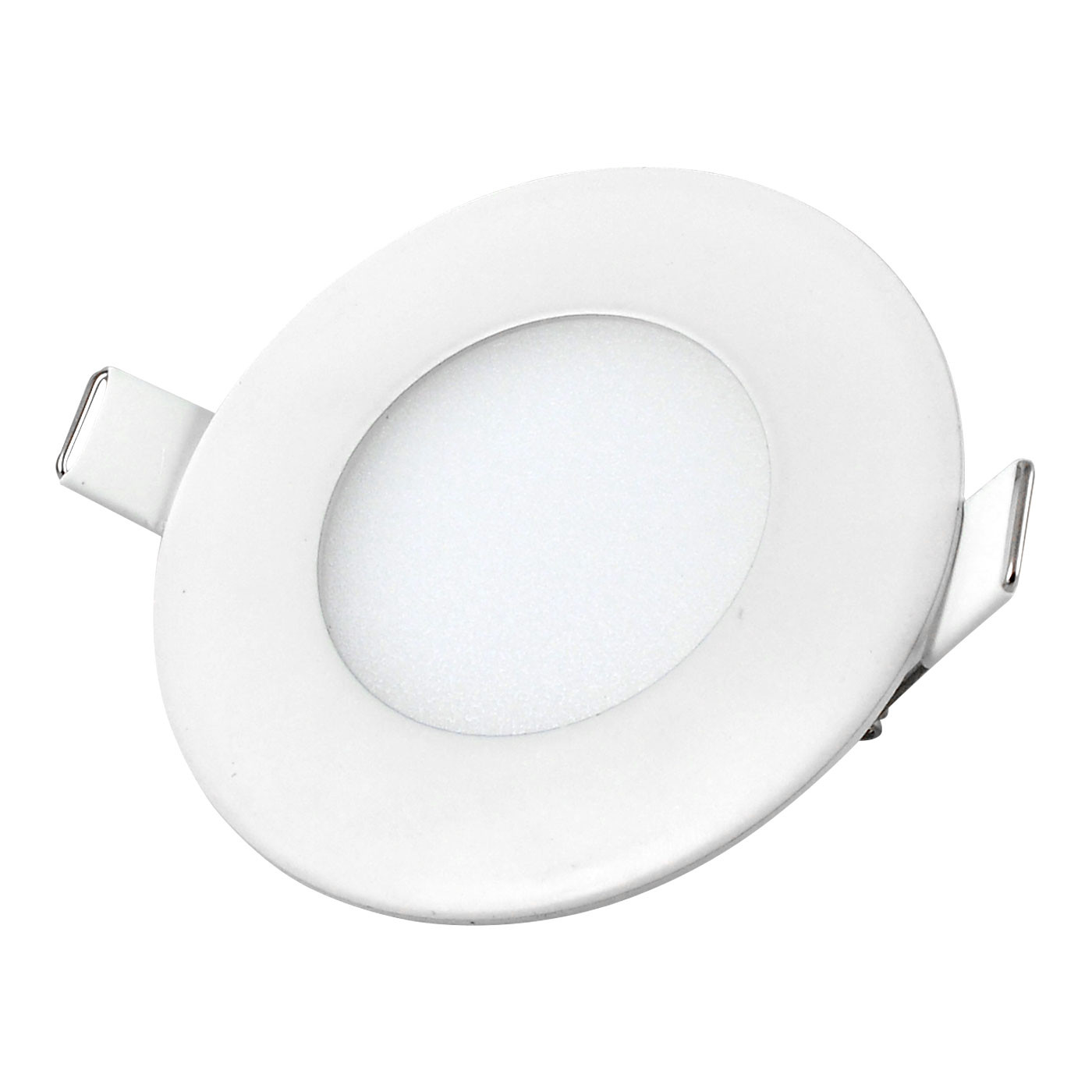 MENGS® 3W Round LED Recessed Ceiling Panel Light 15x 2835 SMD LEDs LED Bulb Lamp in Warm White Energy-saving Light