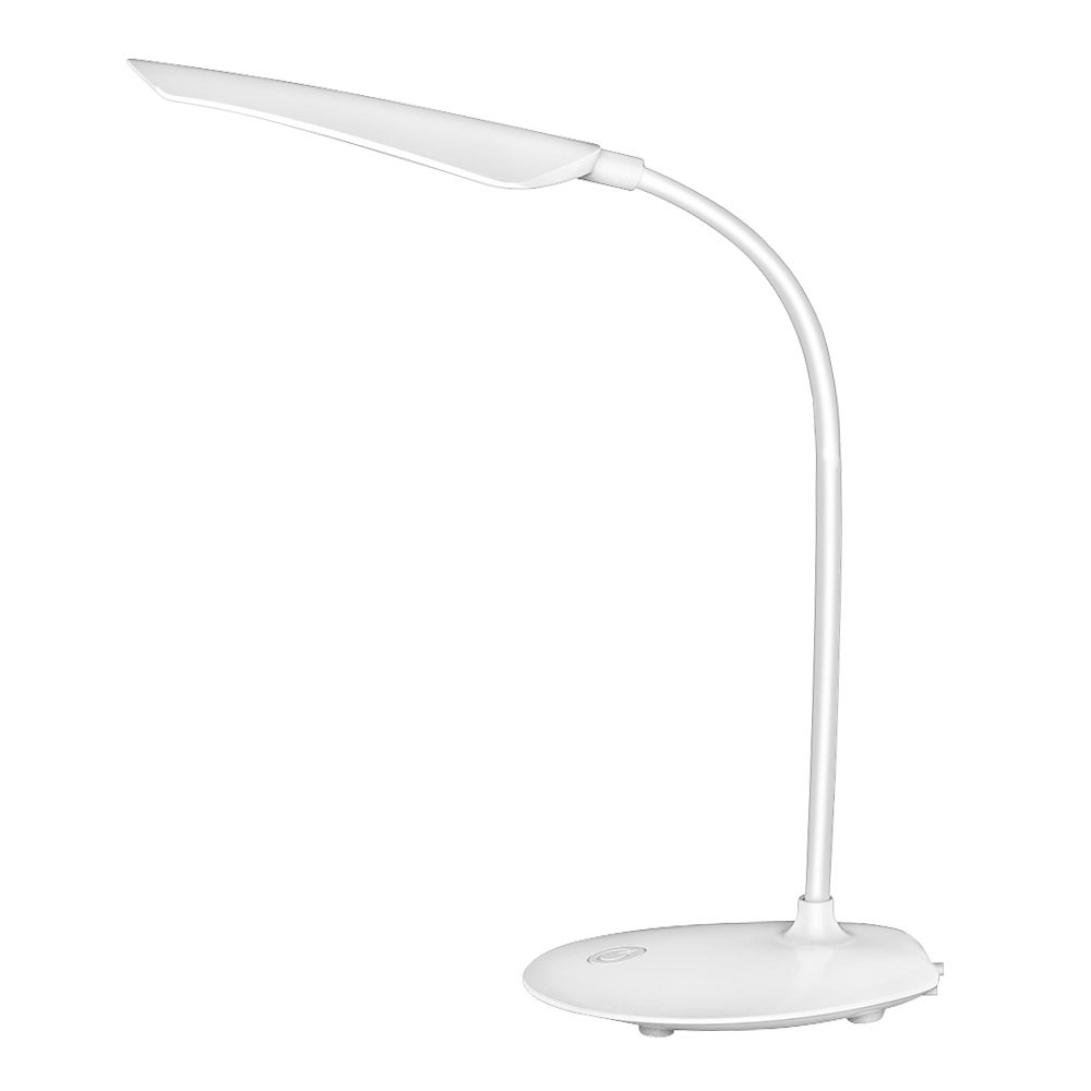 MENGS® FYD1627 3W LED Eye-protechtion Reading table Lamp Portable Flexible Gooseneck Desk Lamp with 3 Brightness Levels, Touch Control, USB Rechargeable for home, office, college dorm, school, hotel - Neutral White