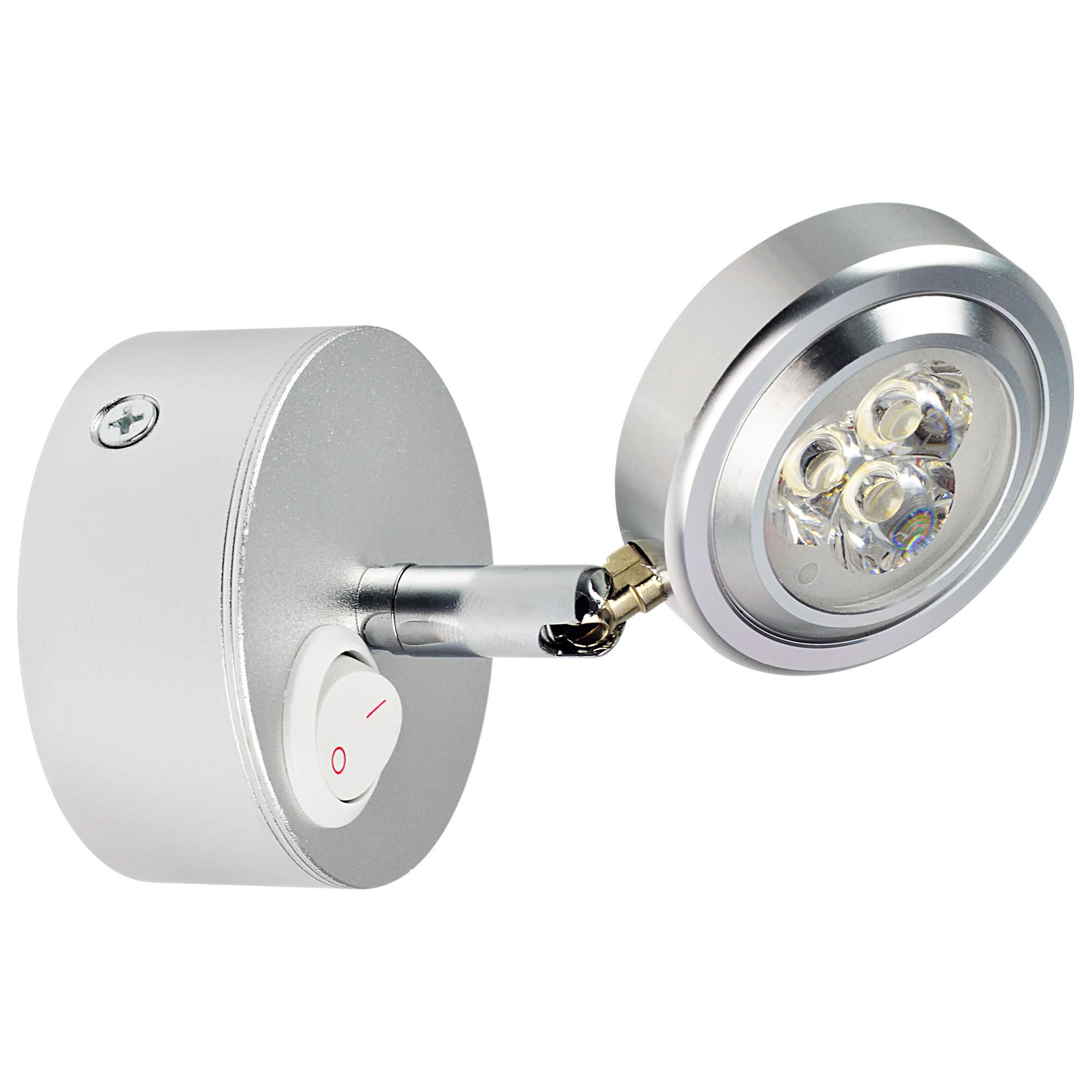 MENGS® CJ-01 3W LED wall lamp/bedside Light with switch button In Cool White Energy-Saving Lamp