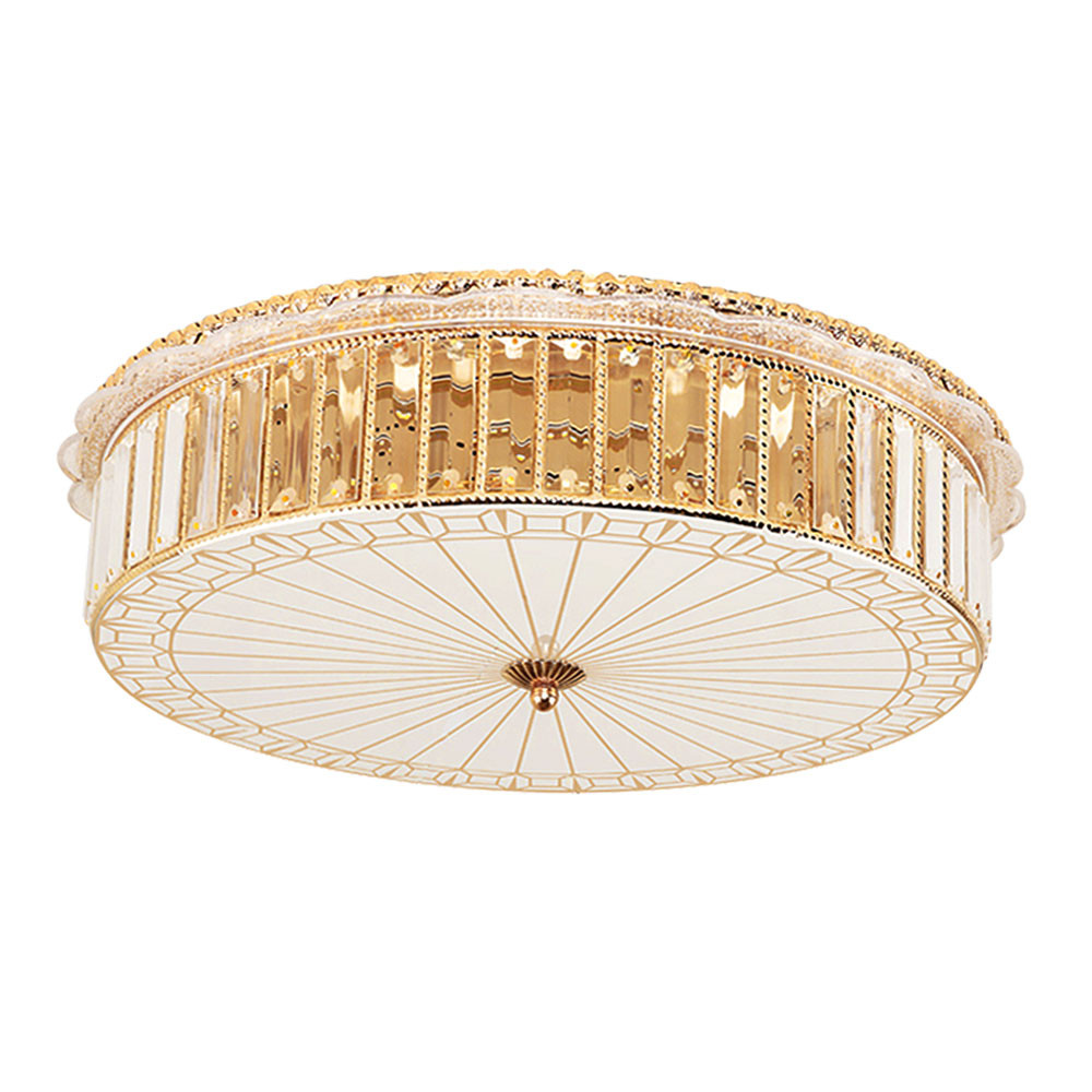 MENGS® 8061 Modern 40W Crystal LED Ceiling Lamp 42x 5730 SMD Warm White AC 165-265V With Glass + Metal + Crystal For Hall Living Room Dining Room Kitchen Study Bedroom Bathroom Meeting Boom Balcony