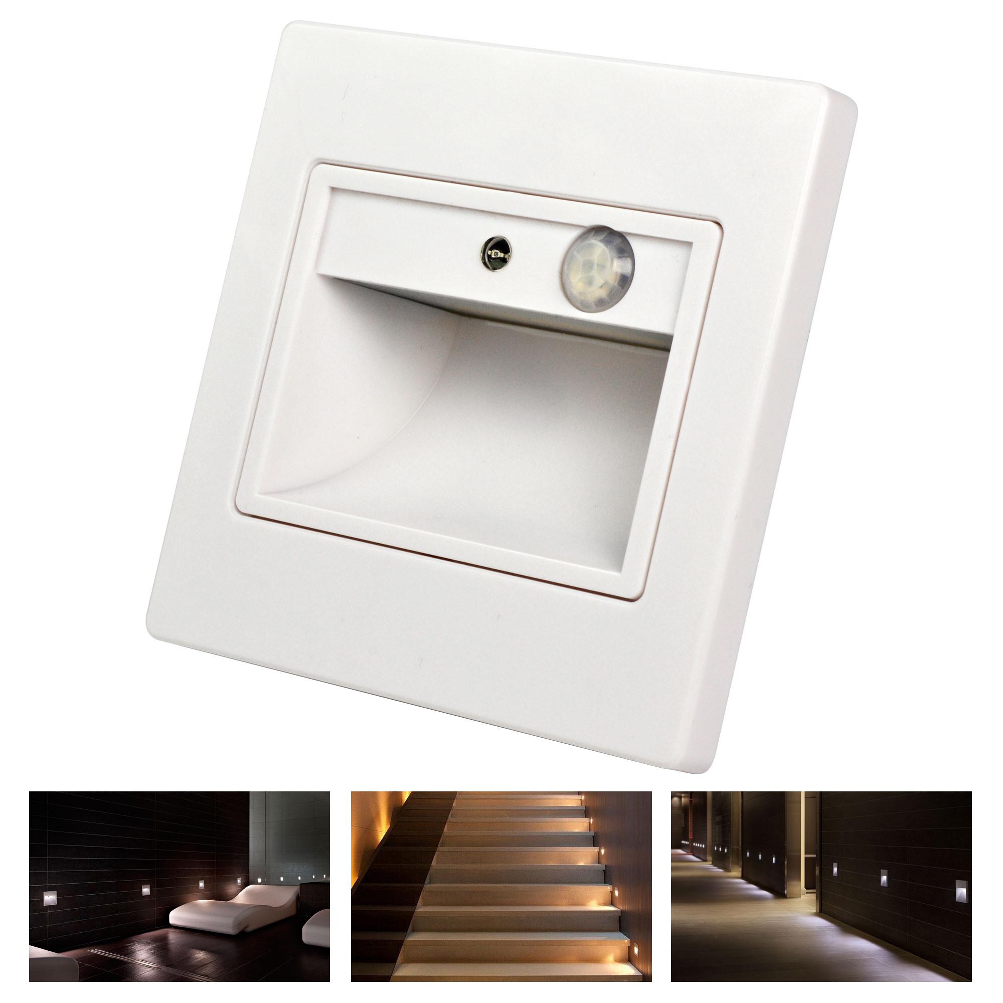 MENGS® 1.5W LED Body Motion Sensor Light 8x 5730 SMD LED Light Sensor Wall Step/Stair Light In Cool White Energy-Saving Light - White