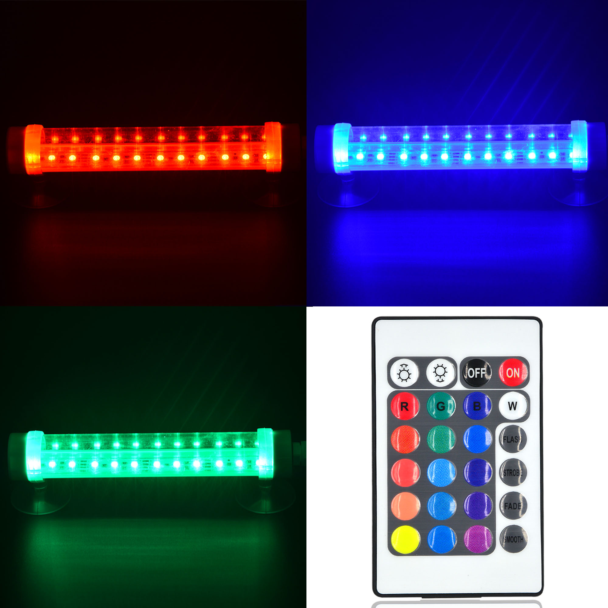 20cm 3w led waterproof ip68 rgb aquarium light 12x 5050 smd led bulb lamp with remote control. Black Bedroom Furniture Sets. Home Design Ideas