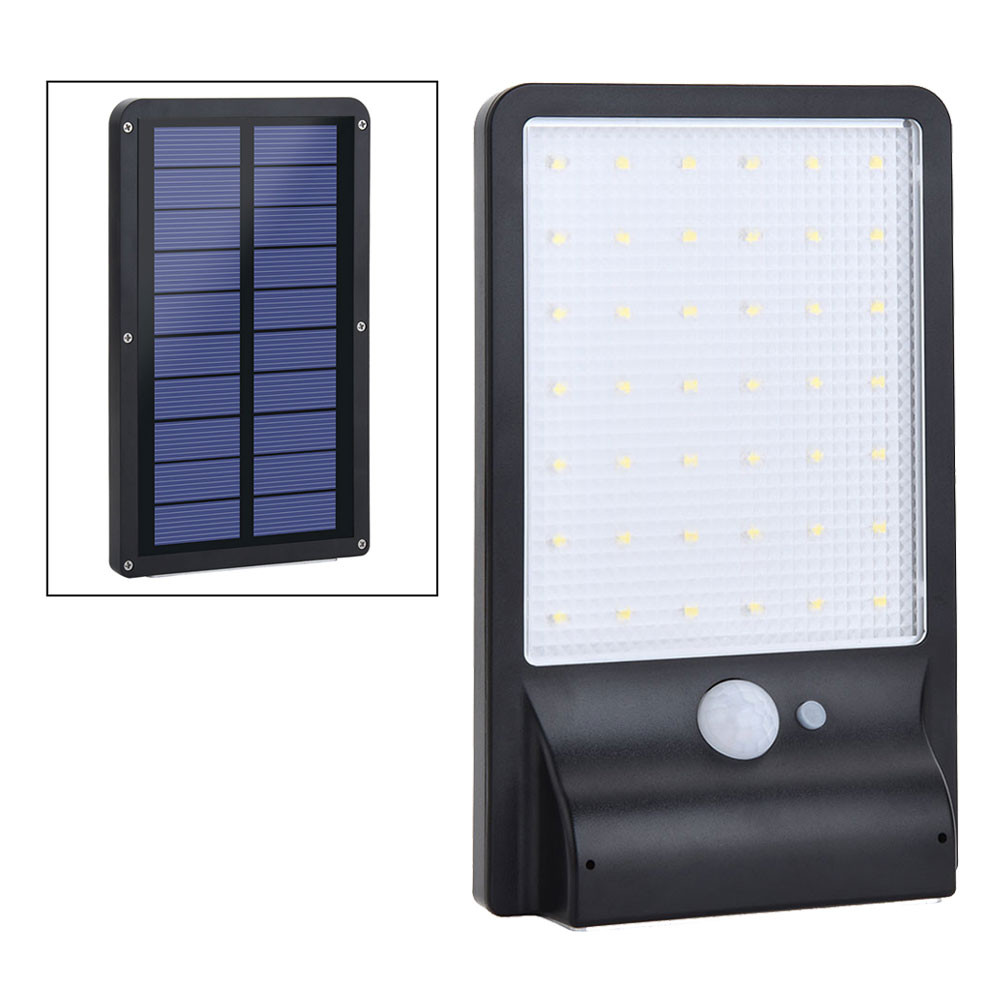 MENGS® SP-1611BC Waterproof 3.5W PIR Motion Sensor LED Solar Light For Outdoor Garden Yard Patio Porch Aisle Driveway - Cool White