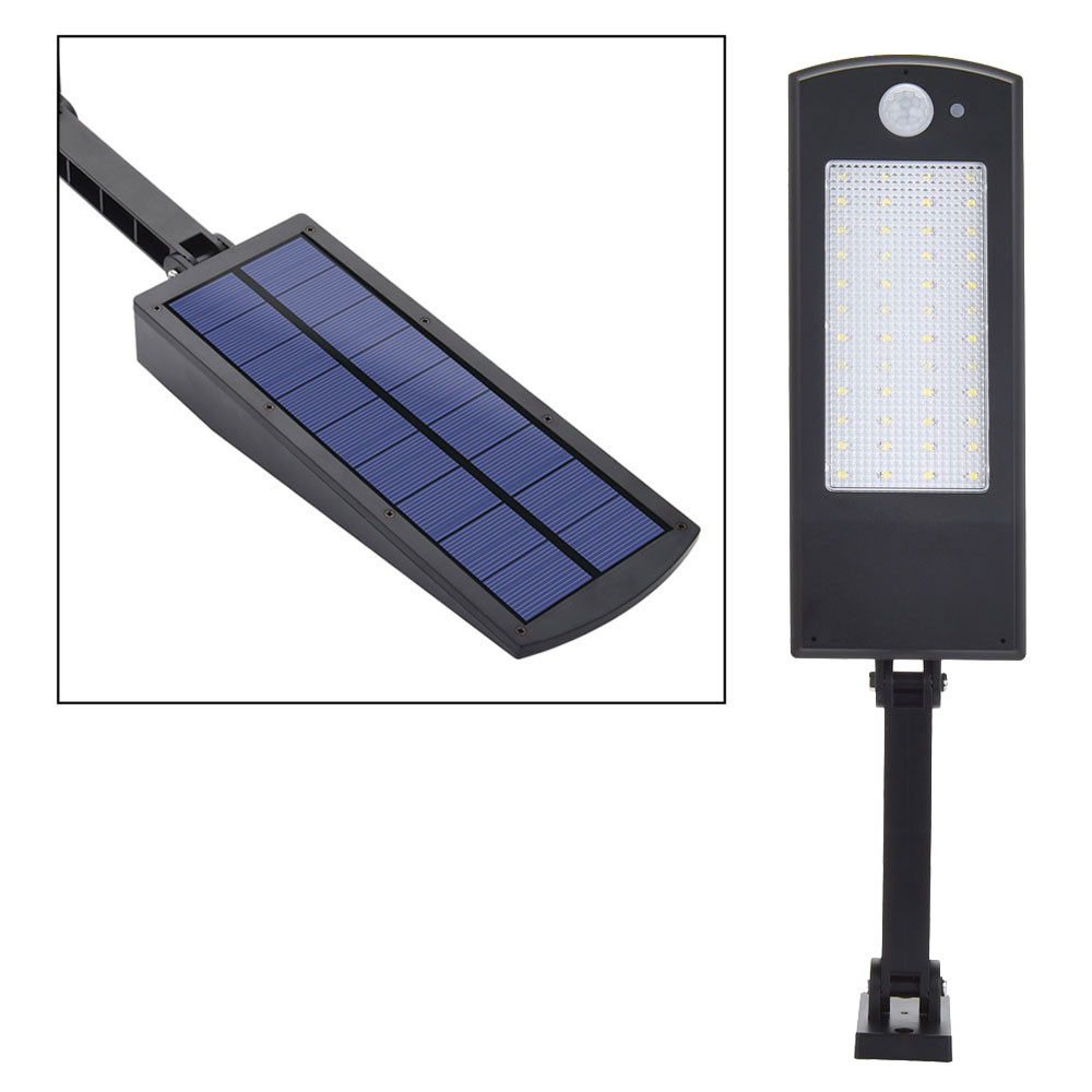 MENGS® SP-1619BC Waterproof 6.8W PIR Motion Sensor LED Solar Light with 180° Adjustable 2.65-3.65V ABS + PC For Outdoor, Garden, Yard, Patio, Porch, Aisle, Driveway - Cool White