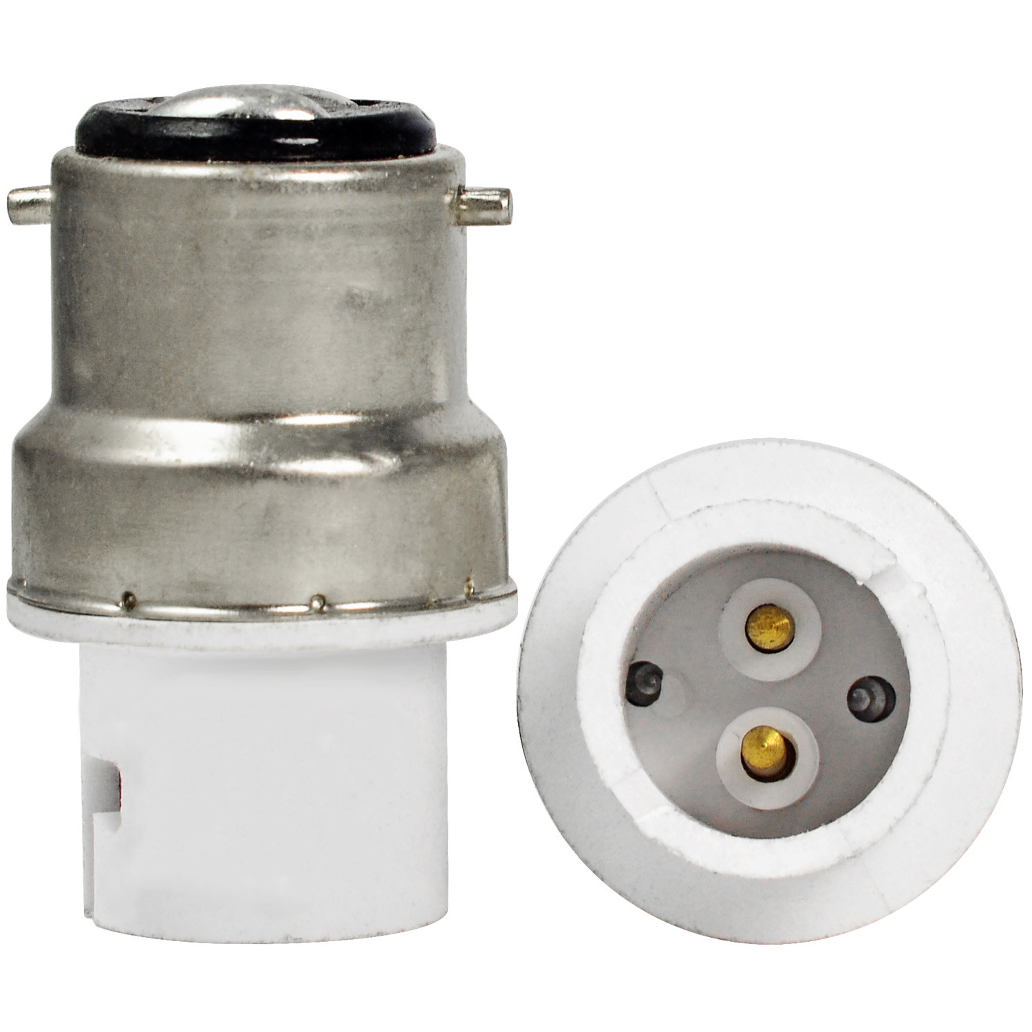 MENGS® B22 to BA15D Lamp Holder Temperature-RESISTANCE with ABS Material (AC 100 - 240V) Converter Adapter High / Extender / Holder