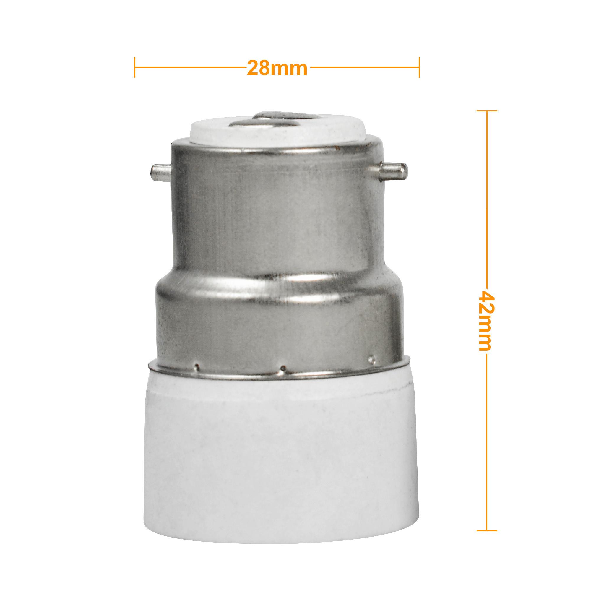 Mengs Bayonet B22 To E14 Led Light Lamp Socket Base Converter Small Adapter