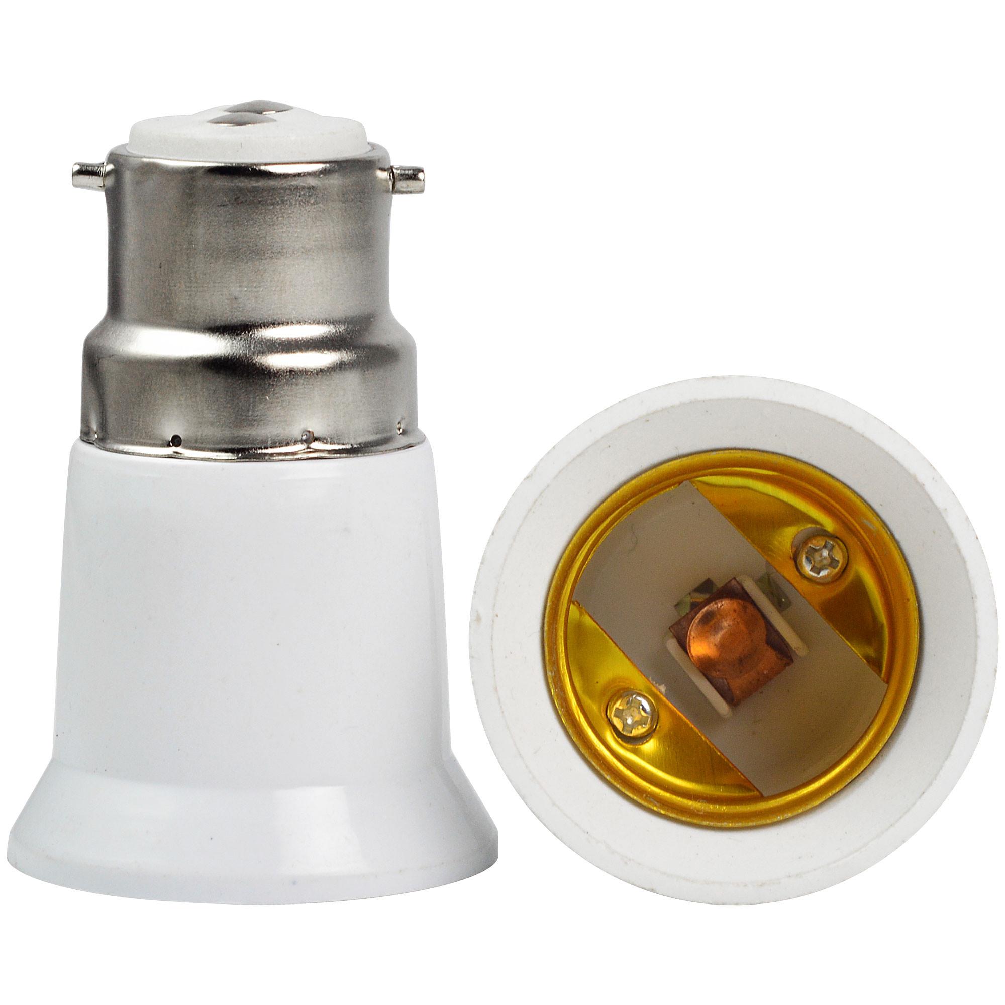 MENGS® Light Bulb Socket Converters Adaptors Holders Bayonet B22 to E27 Screw Lamps