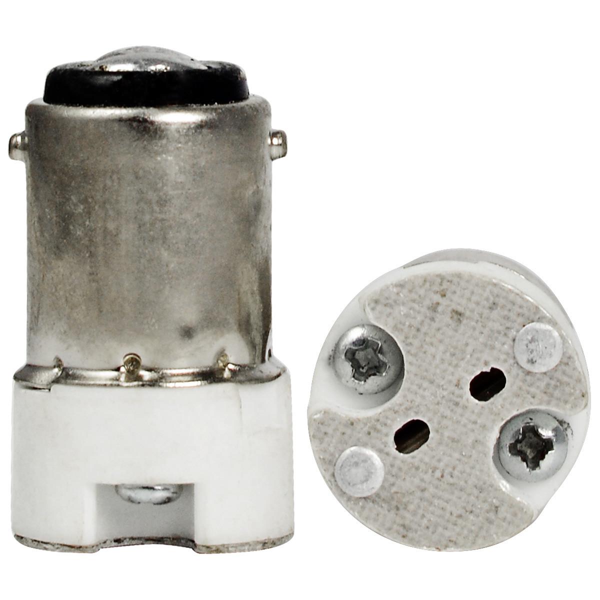 MENGS® High Quality Lamp Base Adapter BA15D To MR16 LED Light Bulb Socket Converter
