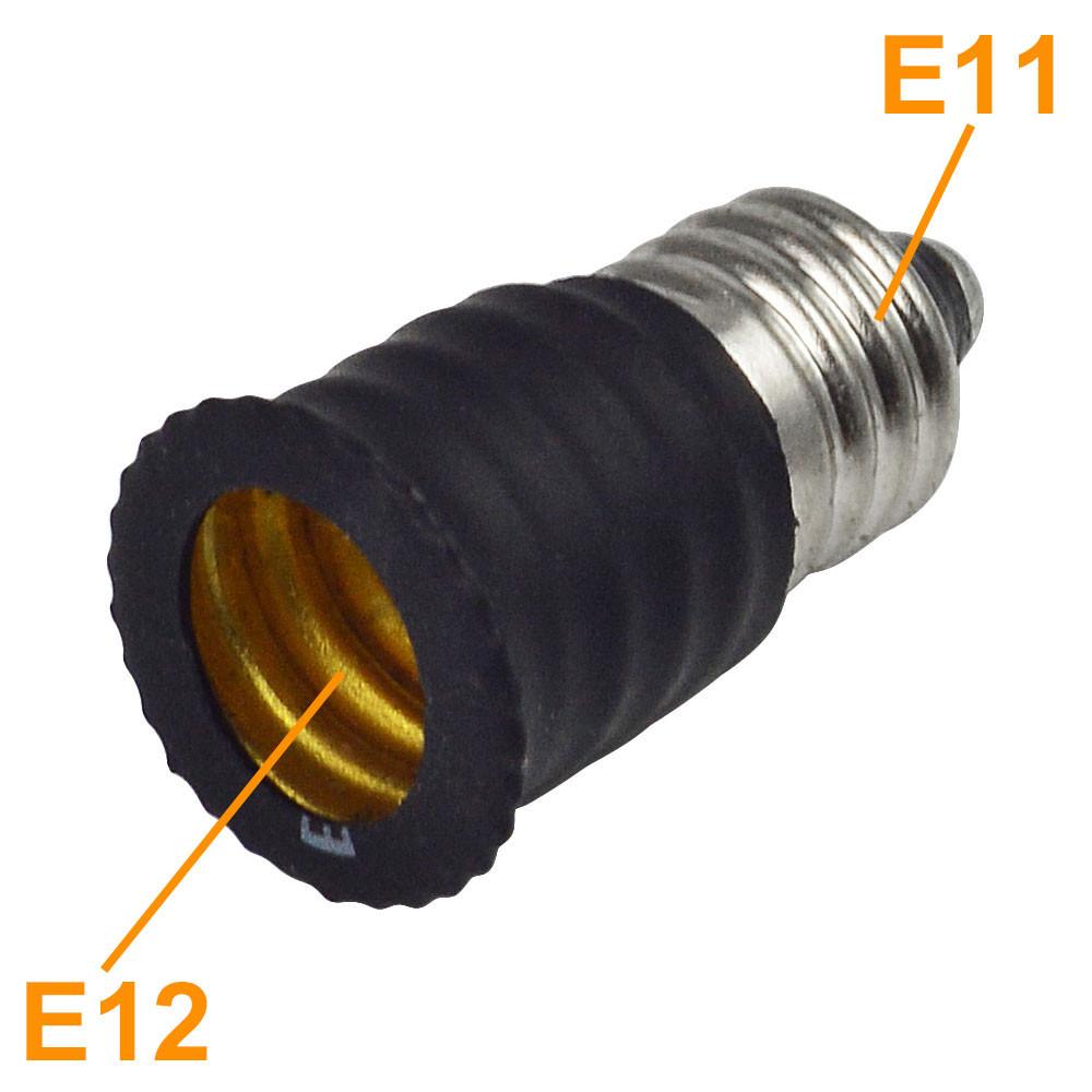e11 to e12 base socket holder mini led light bulb adapter led lights. Black Bedroom Furniture Sets. Home Design Ideas