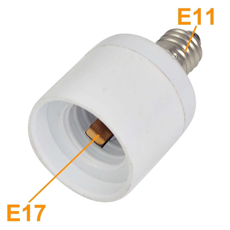 lamp base adapter e11 to e17 led light bulb socket. Black Bedroom Furniture Sets. Home Design Ideas