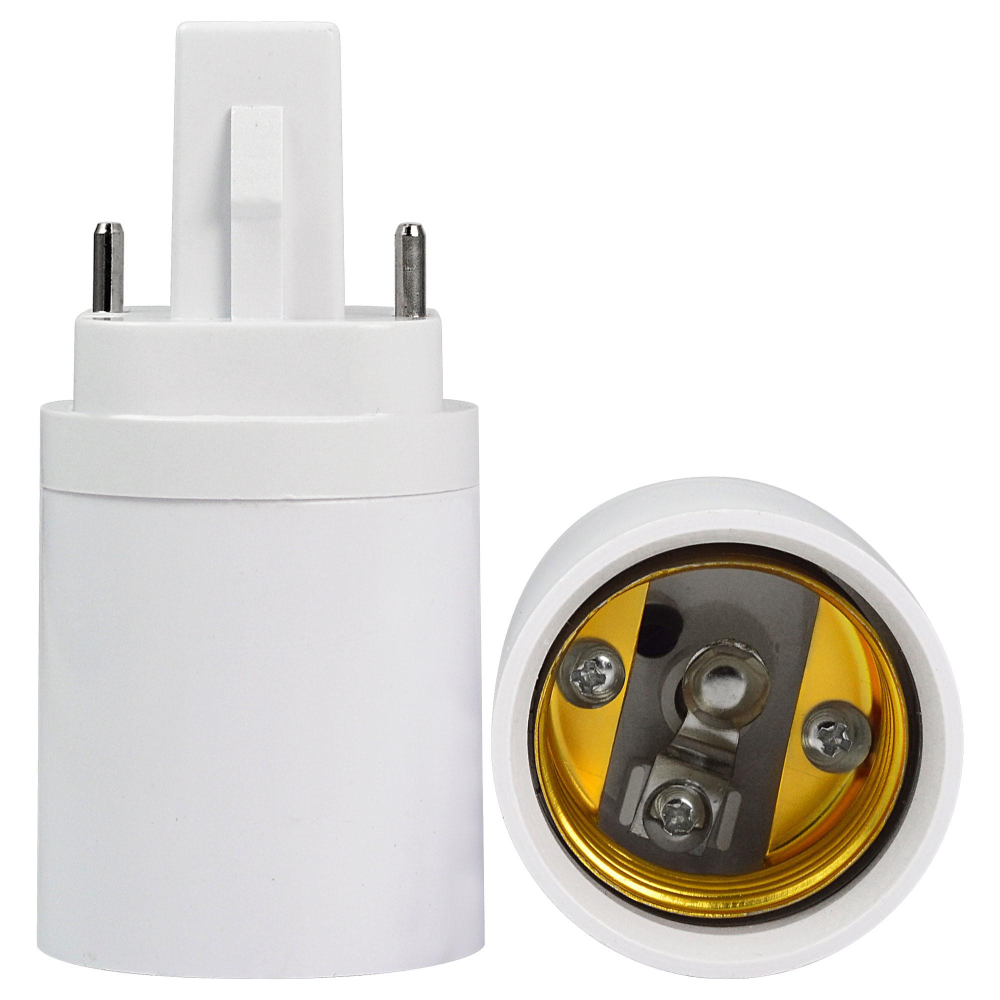 MENGS® High Quality Lamp Base Adapter G24 to E27 LED Light Bulb Socket Converter