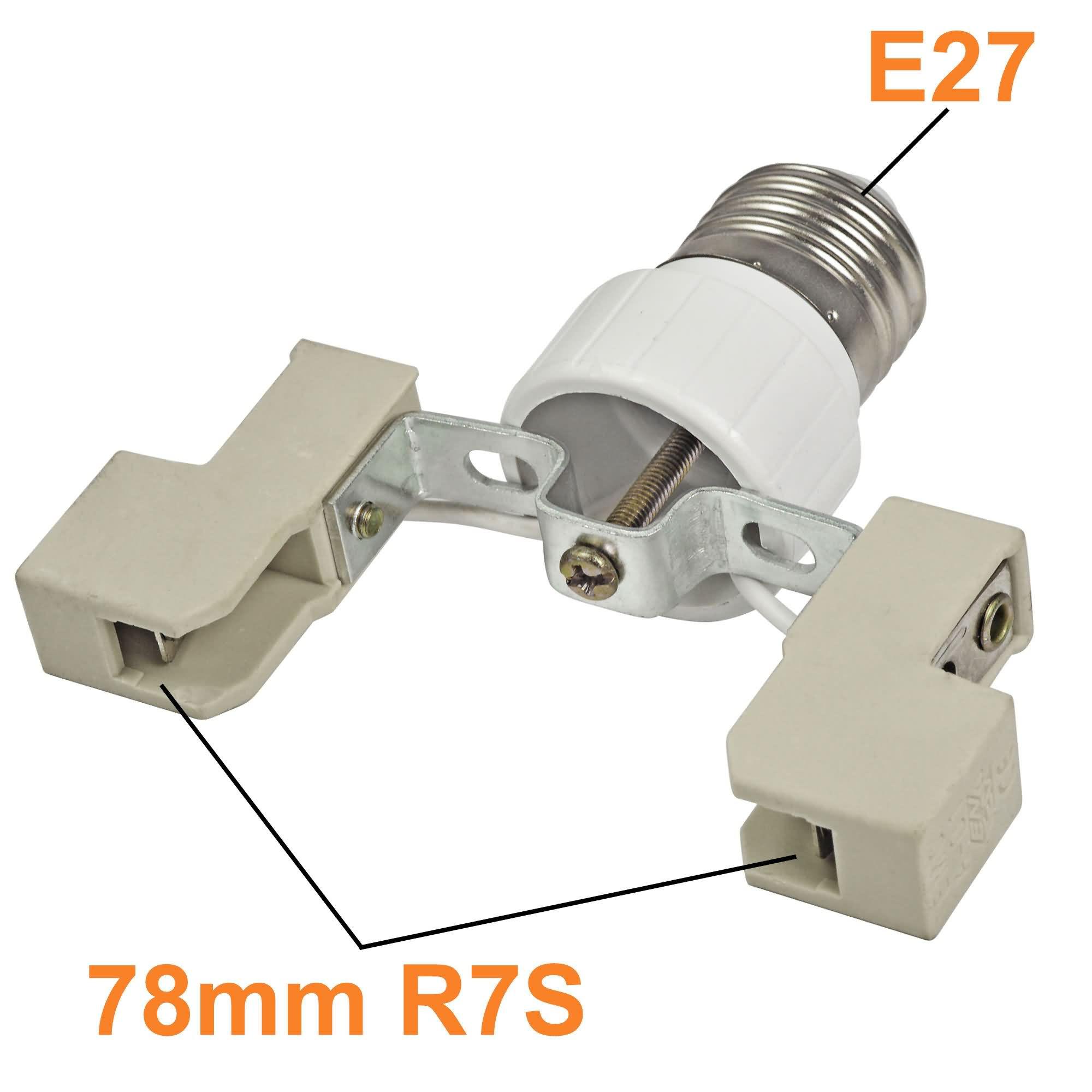 e27 to r7s 78mm base led light lamp bulb adapter converter led lights photography accessories. Black Bedroom Furniture Sets. Home Design Ideas