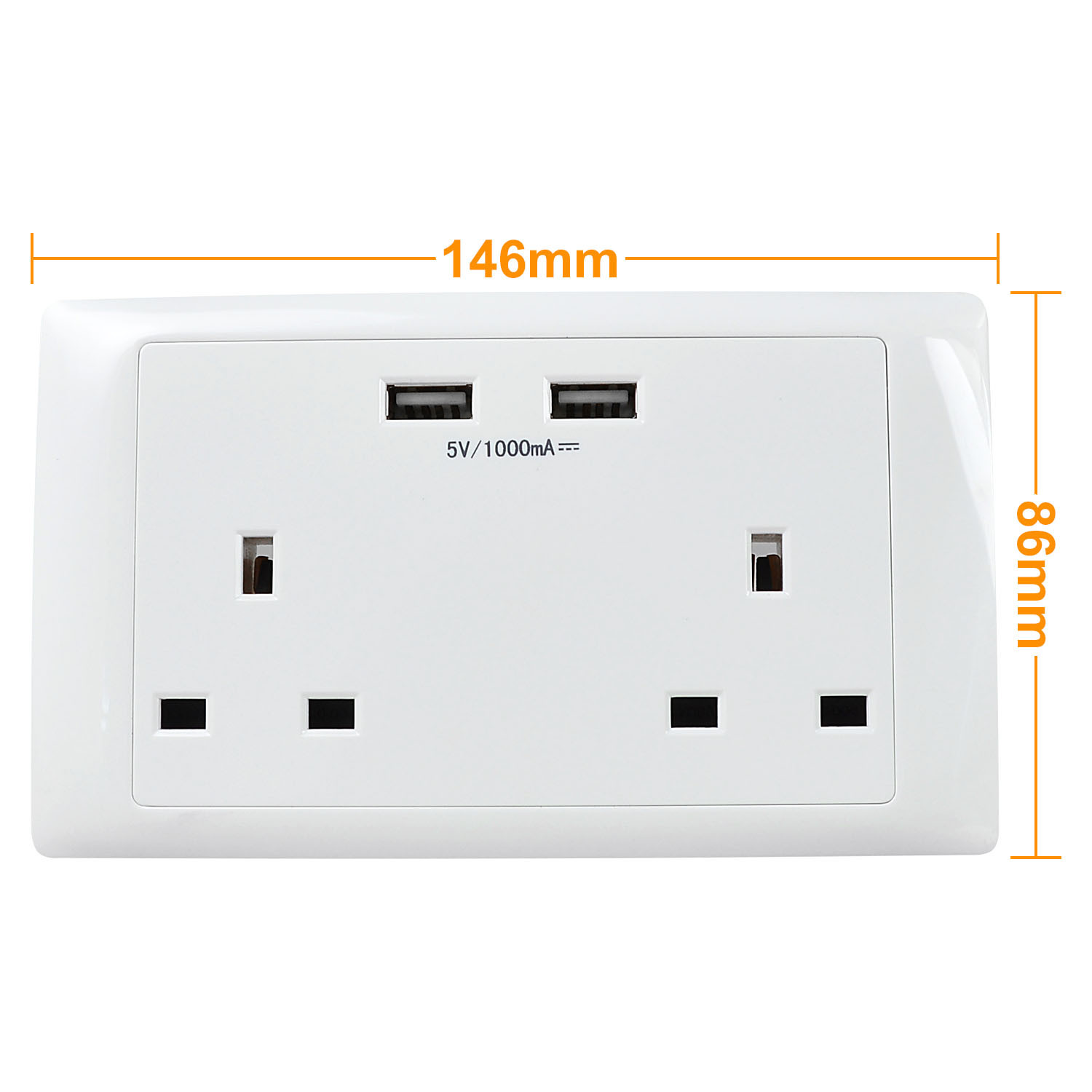 Usb Outlet For Home Cooper Wiring Devices 15 Amp Decorator Charging Electrical Uk Multifunction Double Sockets With 2 1000mah Outlets 13a