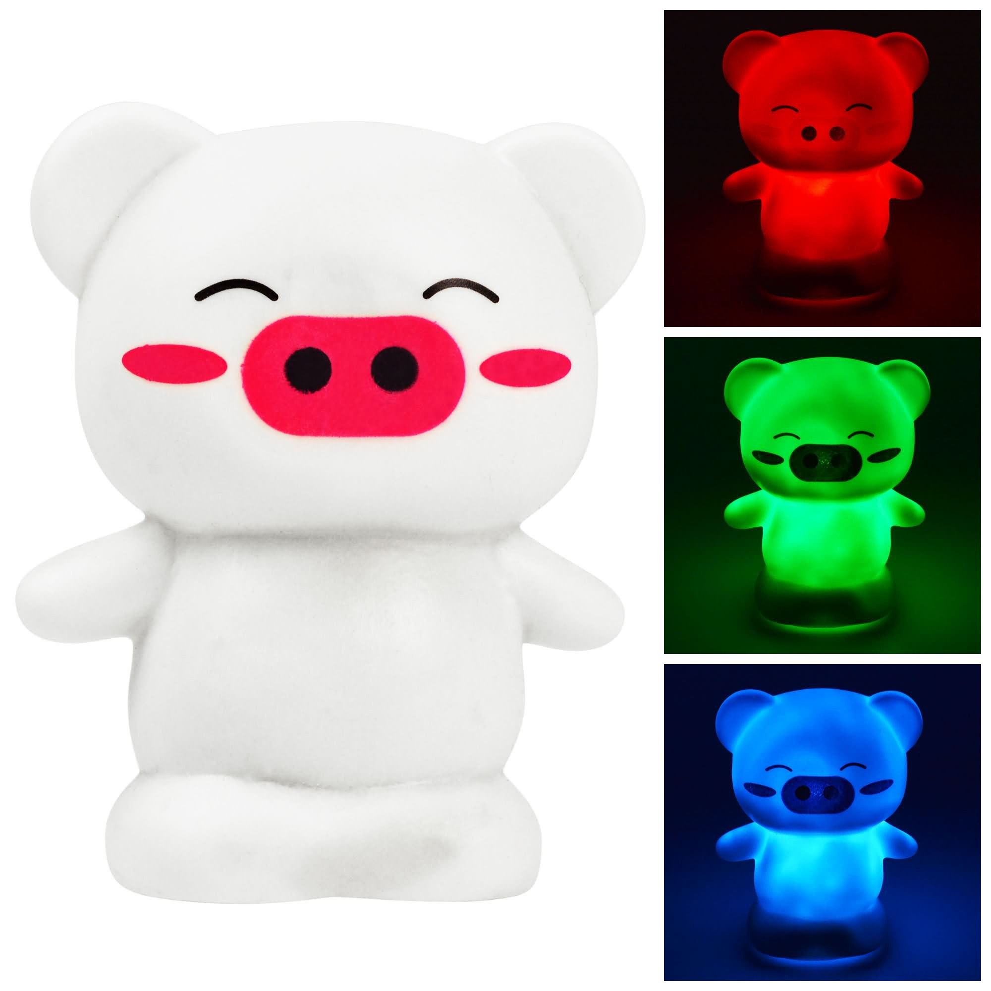 MENGS® Happy Pig 7-Color Changing Night Light - Kids Baby Children Bedroom, Nursery, Party Decor LED Colourful Lamp