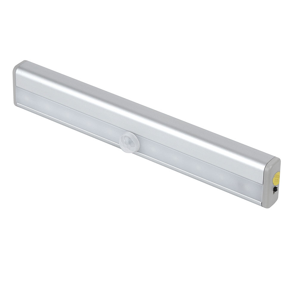 MENGS® 0406 USB Rechargeable 0.75W Motion Sensor LED Nightlight Warm White DC 3-6V 10X2835 SMD With Aluminum For Closet Kitchen Cabinets Stairs Hallway Washroom Refrigerator Garage Space Drawer Storage Room