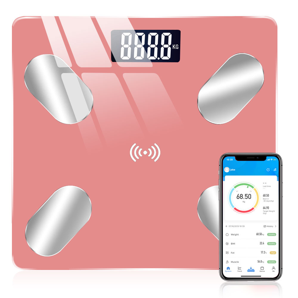 MENGS® Bluetooth Body weight scale Smart BMI LED Digital Bathroom Wireless Weight Scale Balance USB APP
