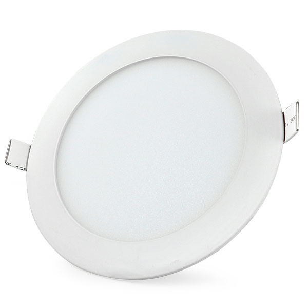 MENGS® 12W Round LED Recessed Ceiling Panel Light 60x 2835 SMD LEDs LED Bulb Lamp in Warm White Energy-saving Light