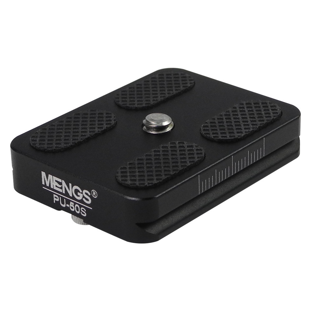 MENGS® PU-50S 1/4'' Mounting Screw Quick Release Plate for DSLR Camera