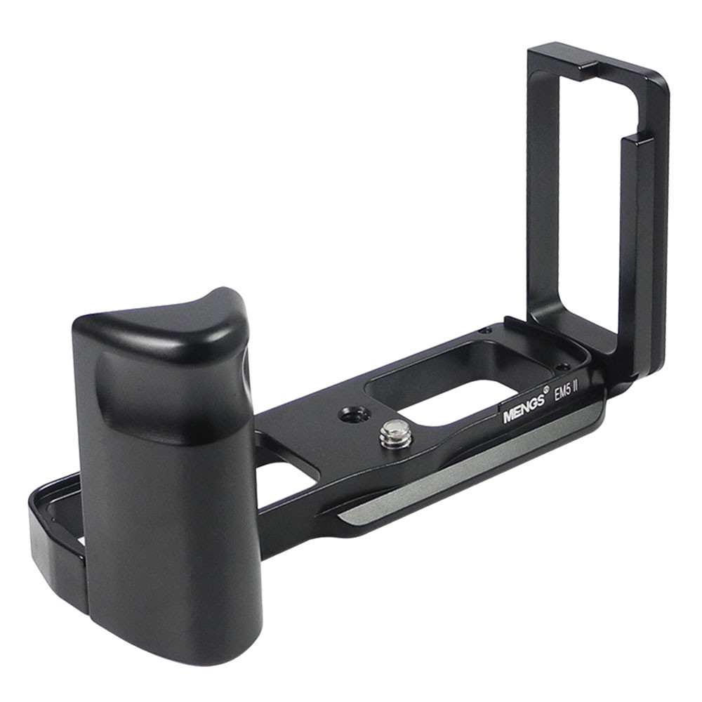 MENGS® E-M5 II L-Shaped Quick Release Plate with Hand Grip and Aluminum Alloy Material For Olympus OM-D E-M5 II Camera Compatible with Arca-Swiss Standard