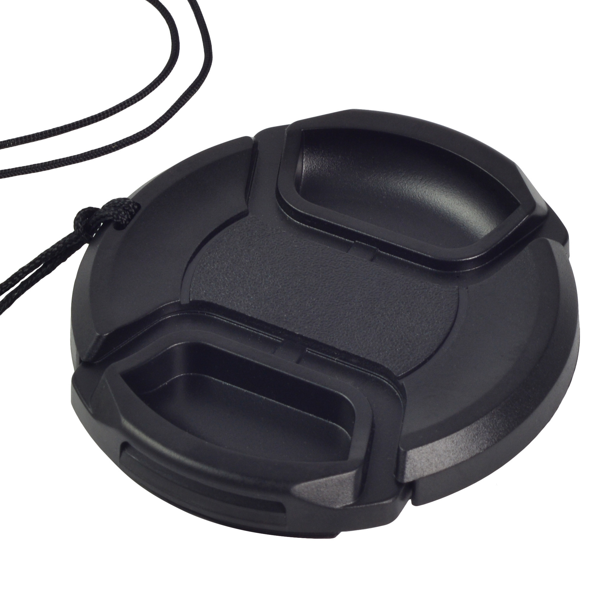 MENGS® 55mm Snap-On lens Cap Cover with string / leash for Nikon Canon Sony