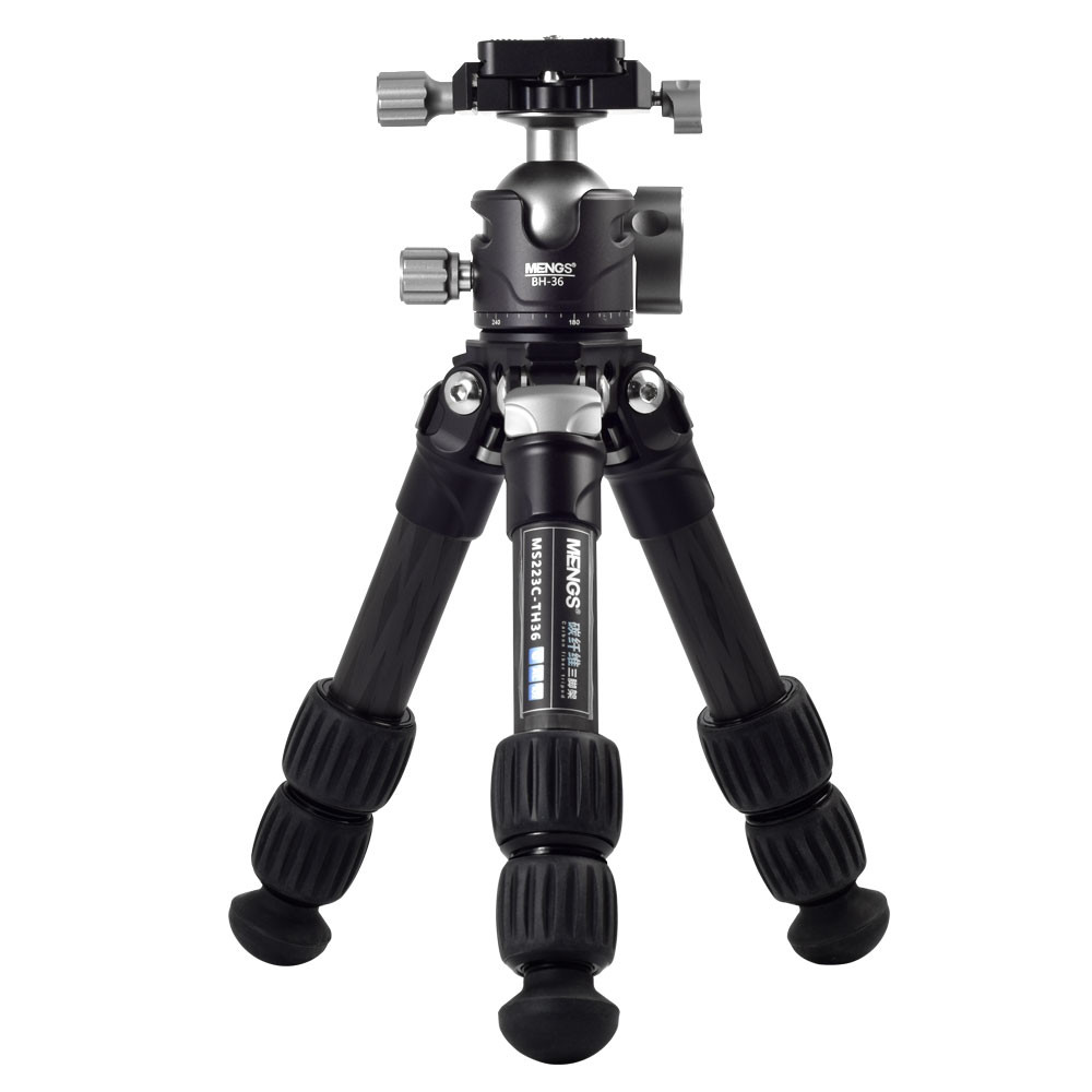 MENGS® TS-223C Carbon Fiber Tripod with BH-36 Panoramic Ball Head For DSLR Camera Mirrorless Cameras Camcorder