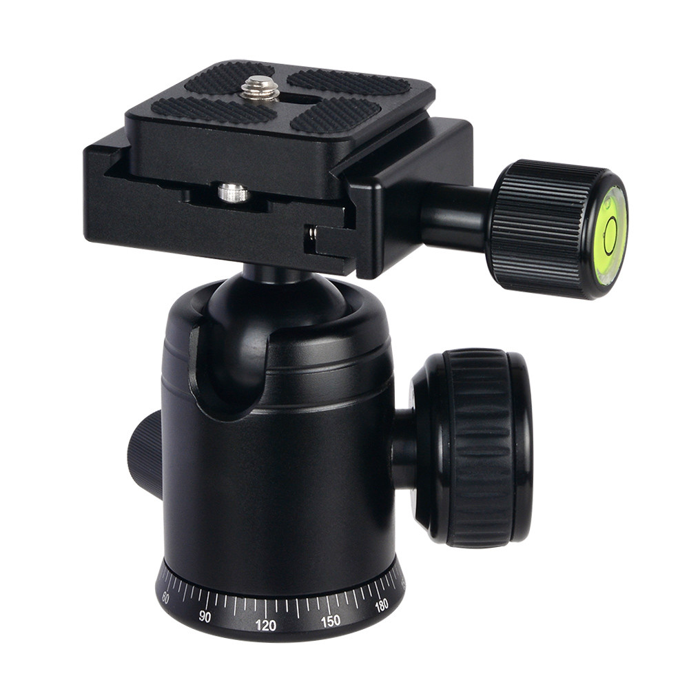 MENGS® X-29 Black Ball Head + Clamp + Qucik Release Plate With Aluminum Alloy For DSLR Camera Camcorders and Tirpod Head