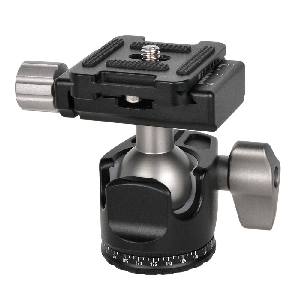 MENGS® D25 Low-Profile Ball Head + Clamp + Quick Release Plate For Mirrorless Camera DSLR Camera and Tripod Head
