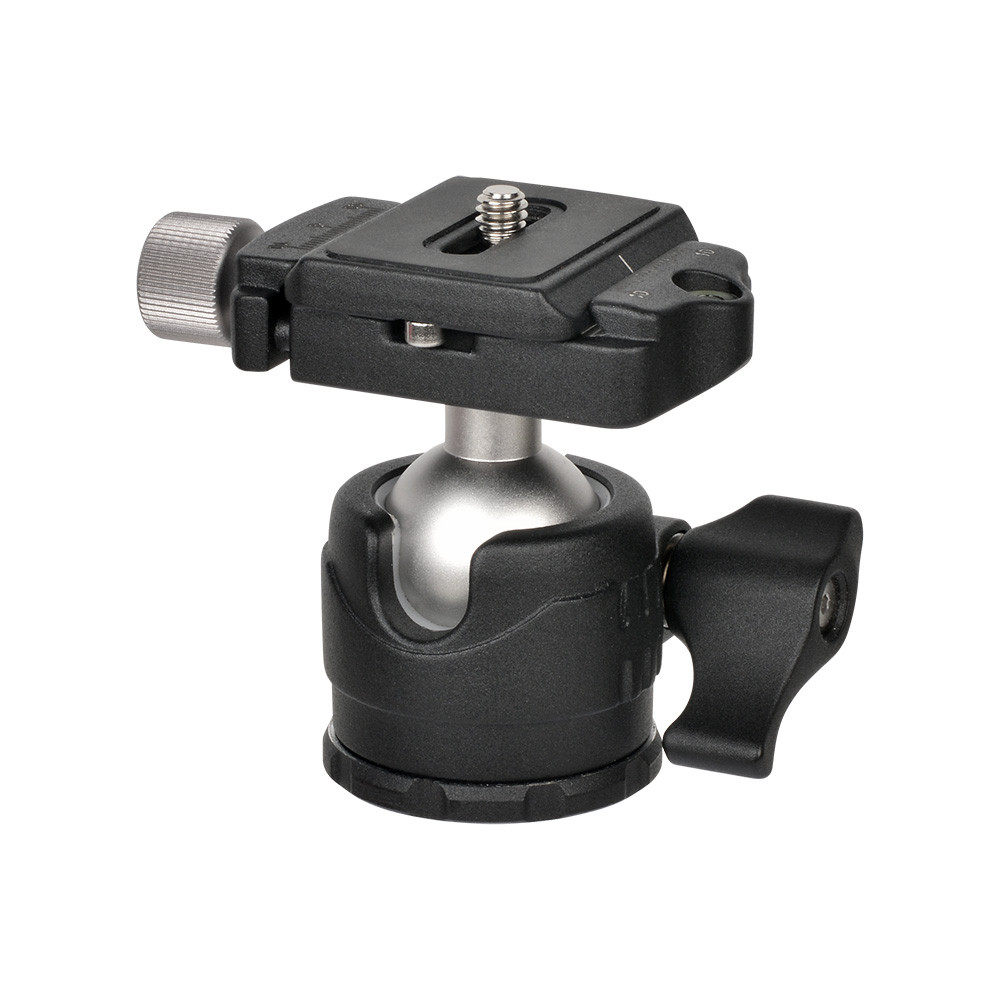 MENGS® H-28 Low-Profile Ball Head + Clamp + Quick Release Plate With Aluminum Die Casting For Mirrorless Camera DSLR Camera and Tripod Head