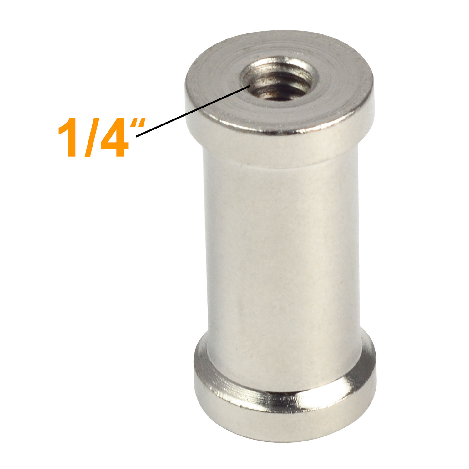 """Stainless Steel 1/4"""" to 3/8"""" Female Threaded screw Tripod Screw Spigot Stud Adapter to Light Stand for Bracket - LED Lights, Photography Accessories ..."""