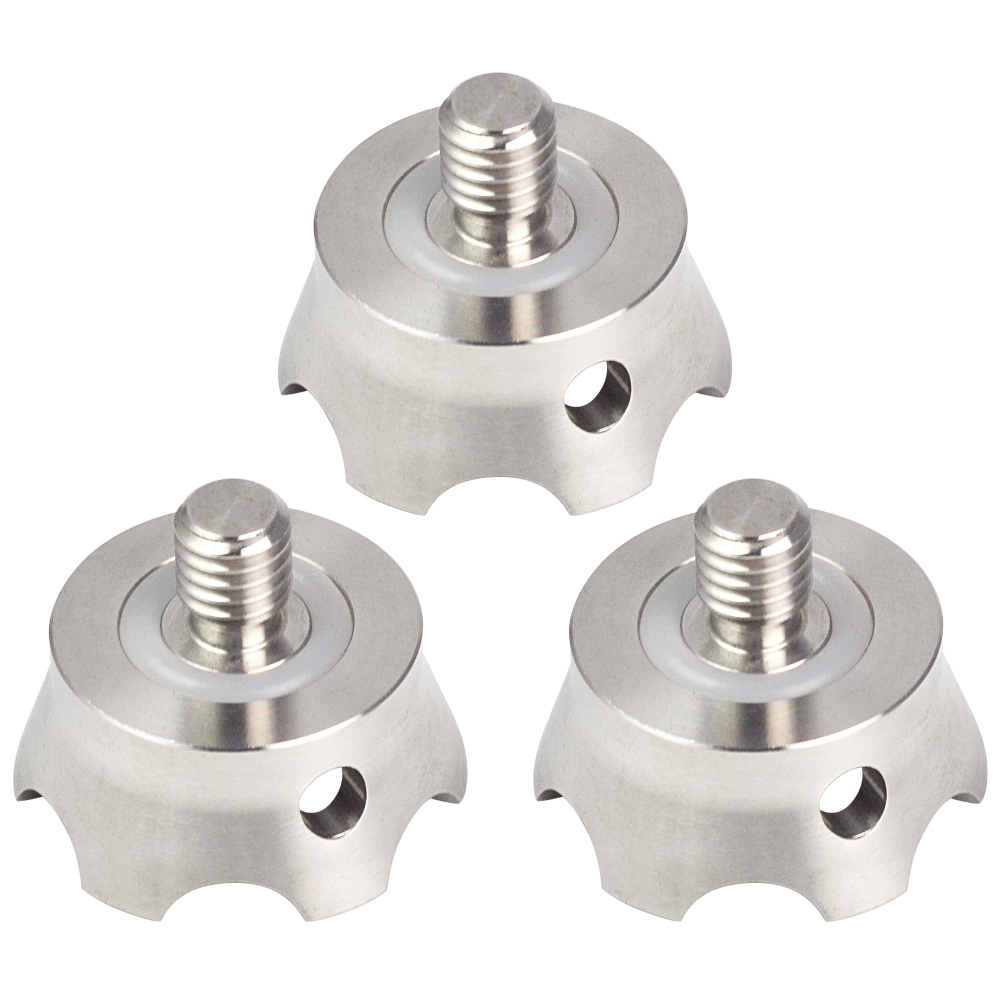 "MENGS® TS-3 A Set of 3 pieces camera spikes with 3/8"" screw interface compatible with all kinds of tripods and monopods, such as Gitzo, RRS, Benro, and FLM etc"