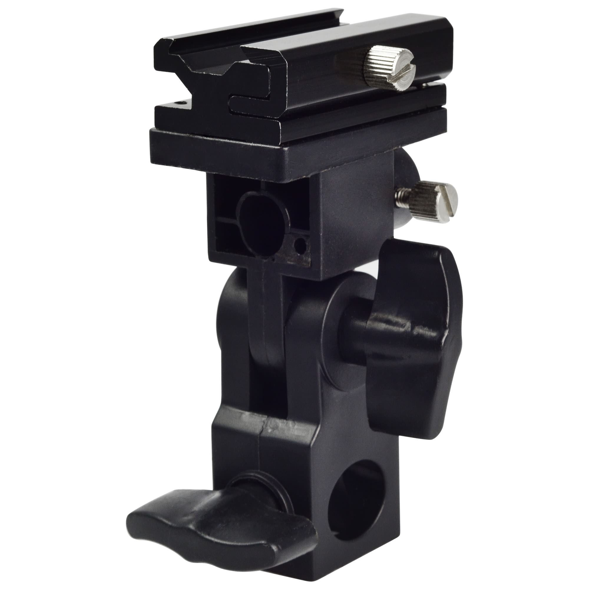 MENGS® Type B Tilting Bracket with PU material for Flashes with Universal Hot Shoe