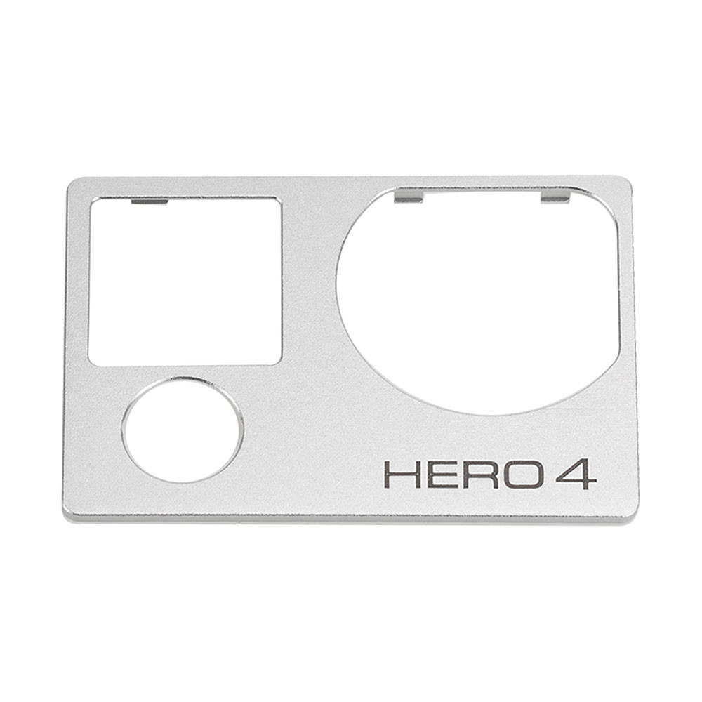 MENGS® All-Metal Front Board Cover For Gopro Hero 4 Front Pannel - Silver