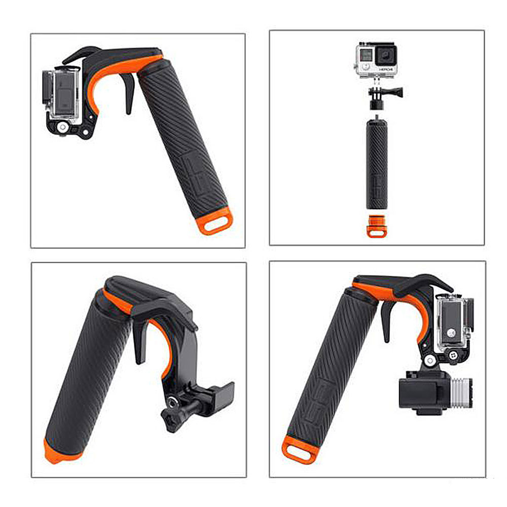 55707cf2eed016 MENGS® GP-096 Waterproof Floating Hand Grip with Pistol Shutter Trigger  With PC + Silicone For Gopro HERO 3/3+/4 Sports Camera