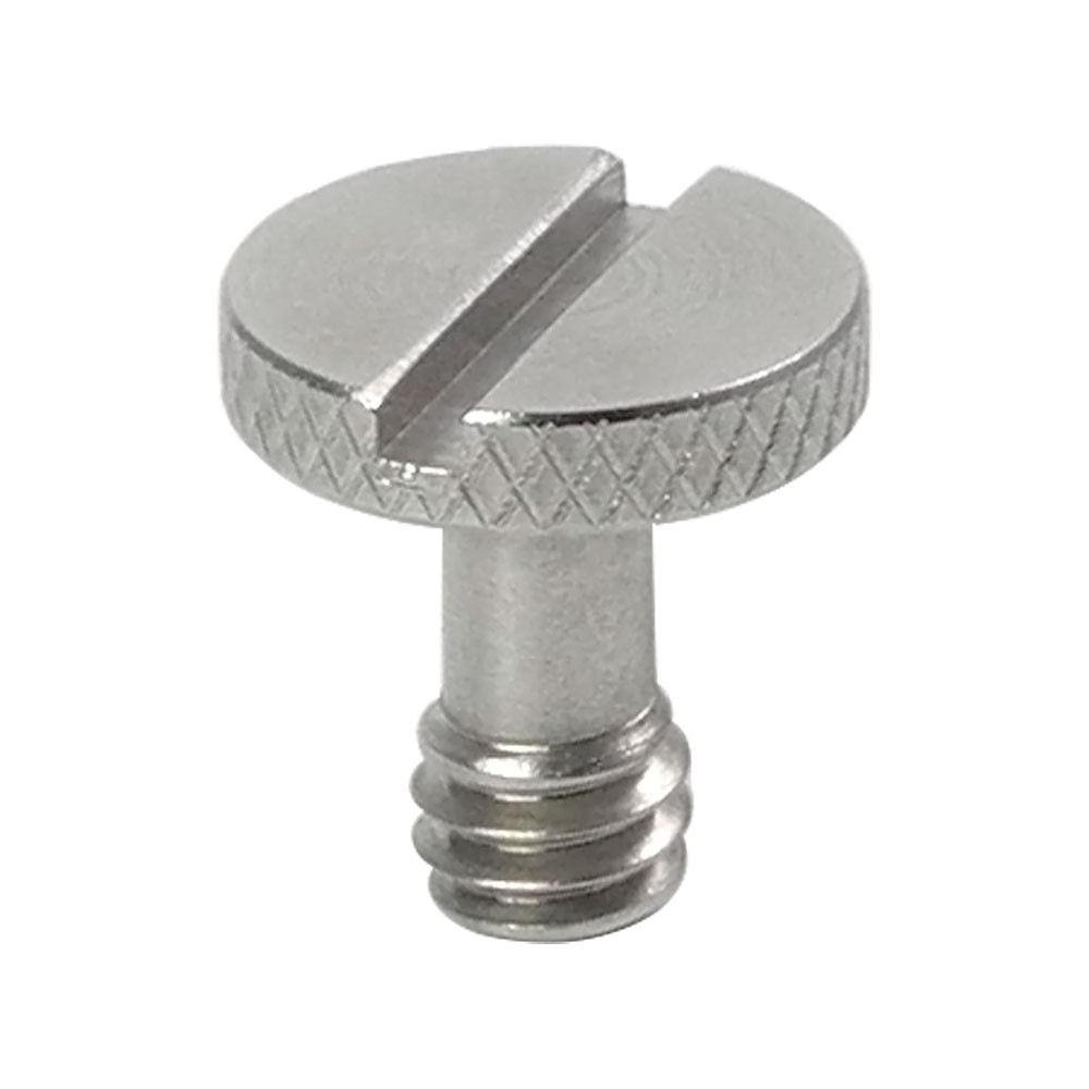 """MENGS® SR-57 1/4"""" Screw (D14mmxH15mm) Stainless Steel Material With Slotted drives and Knurled head For Camera Tripod Monopod Ball Head Quick Release Plate"""