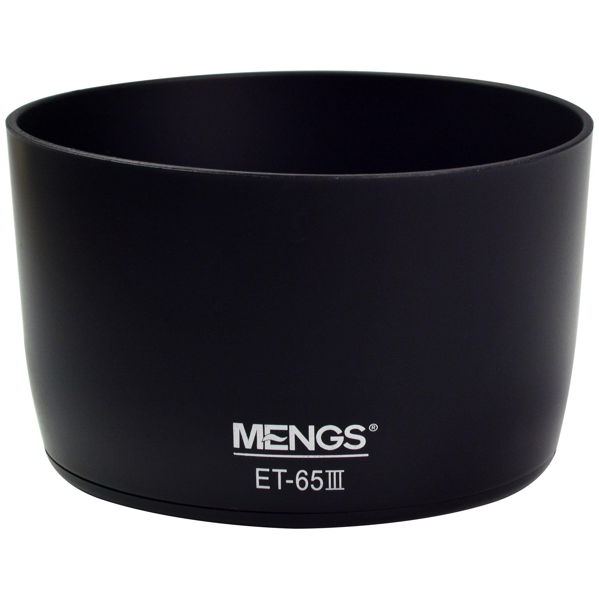MENGS® ET-65 III Lens Hood for Canon EF 85mm f/1.8USM, EF 100mm f/2 USM, EF 100-300mm f/4.5-5.6 USM, EF 75-300mm f/4-5.6, EF 70-210mm f/3.5-4.5 USM, EF 135mm f/2.8 SF