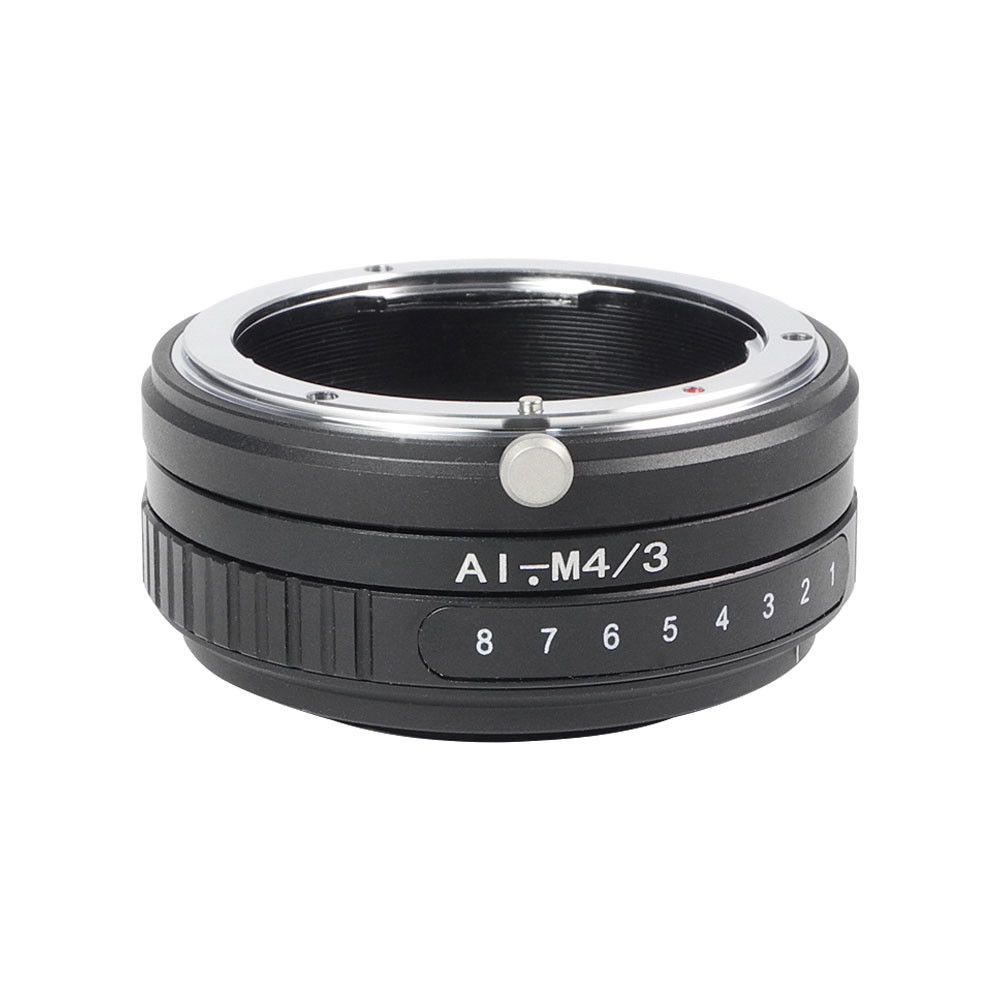 MENGS® AI-M4/3 Tilt Lens Mount Adapter with 360° rotation With Aluminum Alloy+Stainless Steel Nikon AI Lens to Micro 4/3 Mount Panasonic G/GF Series and Olympus EP Series Camera