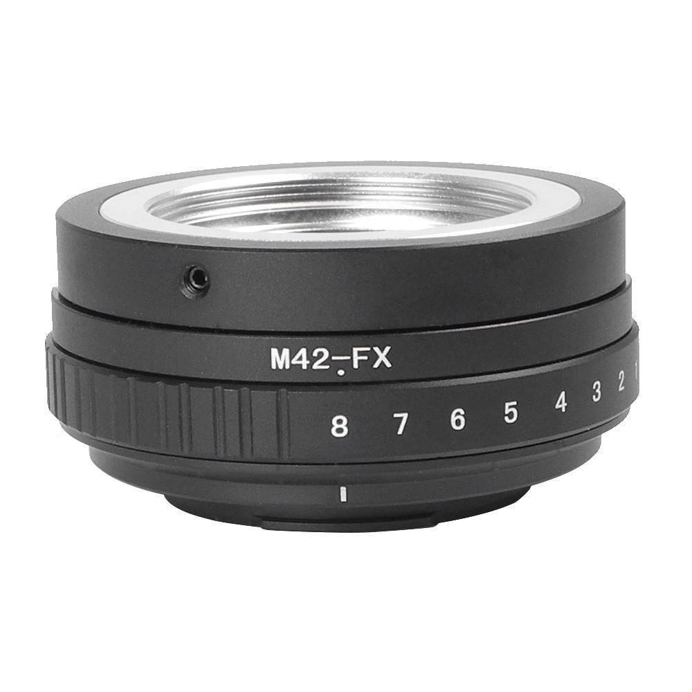 MENGS® M42-FX Tilt Lens Mount Adapter with 360° rotation With Aluminum Alloy+Stainless Steel M42 Mount Lens to Fujifilm X-E1 X-E2 X-M1 X-A1 X-A2 X-RPO1 Mirrorless Camera