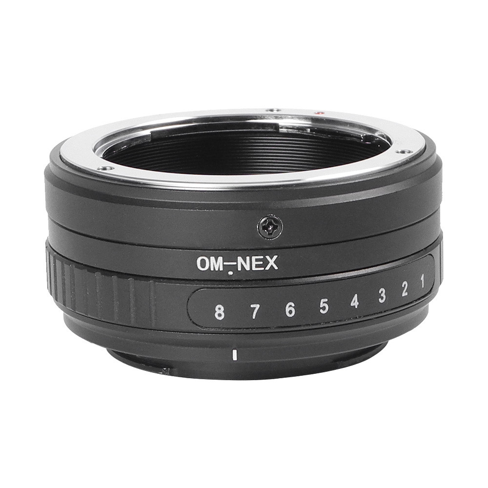 MENGS® OM-NEX Tilt Lens Mount Adapter with 360° rotation With Aluminum Alloy+Stainless Steel Olympus OM Mount Lens to Sony NEX-5R NEX-3 NEX-C3 NEX-5N NEX-5C NEX-5R NEX-6 NEX-7 VG-10 VG-20 VG-30 VG-900 NEX-EA50 FS100 FS700 A6000 A7 A7R A7S A7M2 A7R2 etc E Mount C