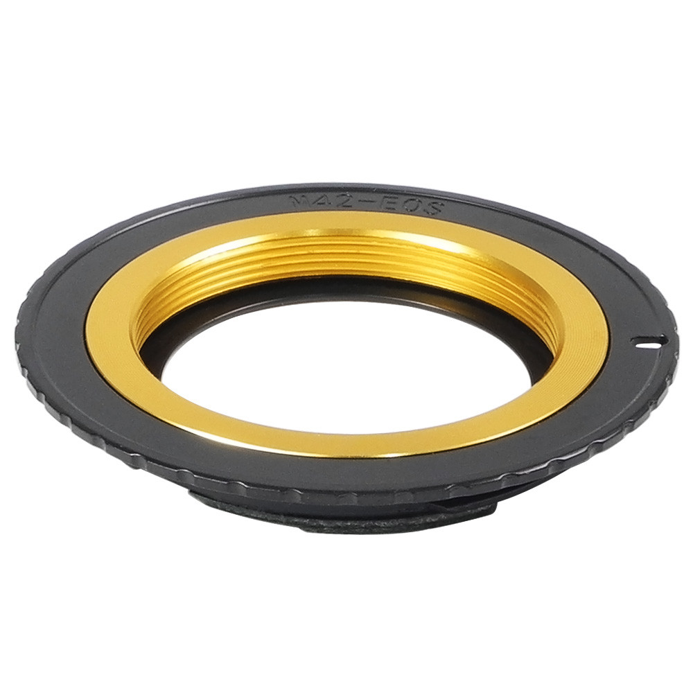 MENGS® M42-EOS Lens Mount Adapter with 6 Generation Confirm Chip With Aluminum M42 Mount Lens to Canon 1D Series 300D 350D 400D 450D 500D 550D 10D 20D 30D 40D 50D 60D 5D 5D II 7D Camera