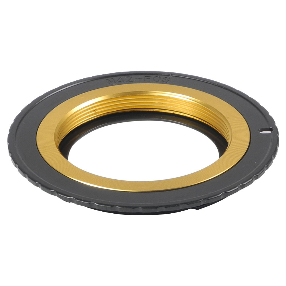 MENGS® M42-EOS Lens Mount Adapter with Adjustable Inner Ring With Brass M42 Mount Lens to Canon EF SLR Camera Body