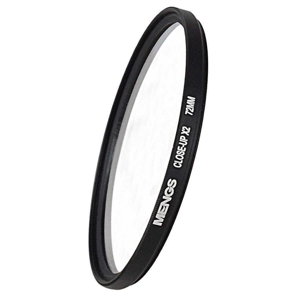 MENGS® 72mm macro close-up +2 lens filter with aluminum frame for Canon Nikon Sony Fuji Pentax Olympus etc Digital Camera