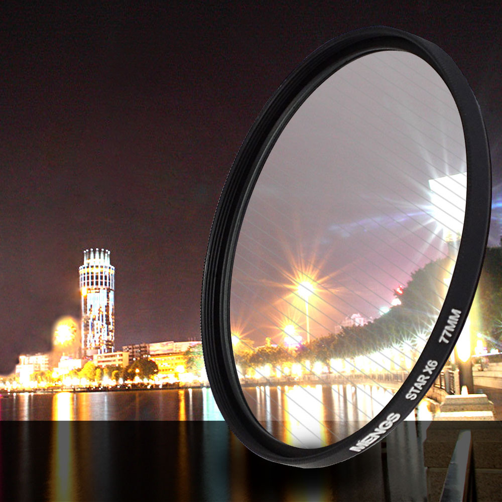 Mengsphoto Mengs 174 77mm 6 Points Star Lens Filter With