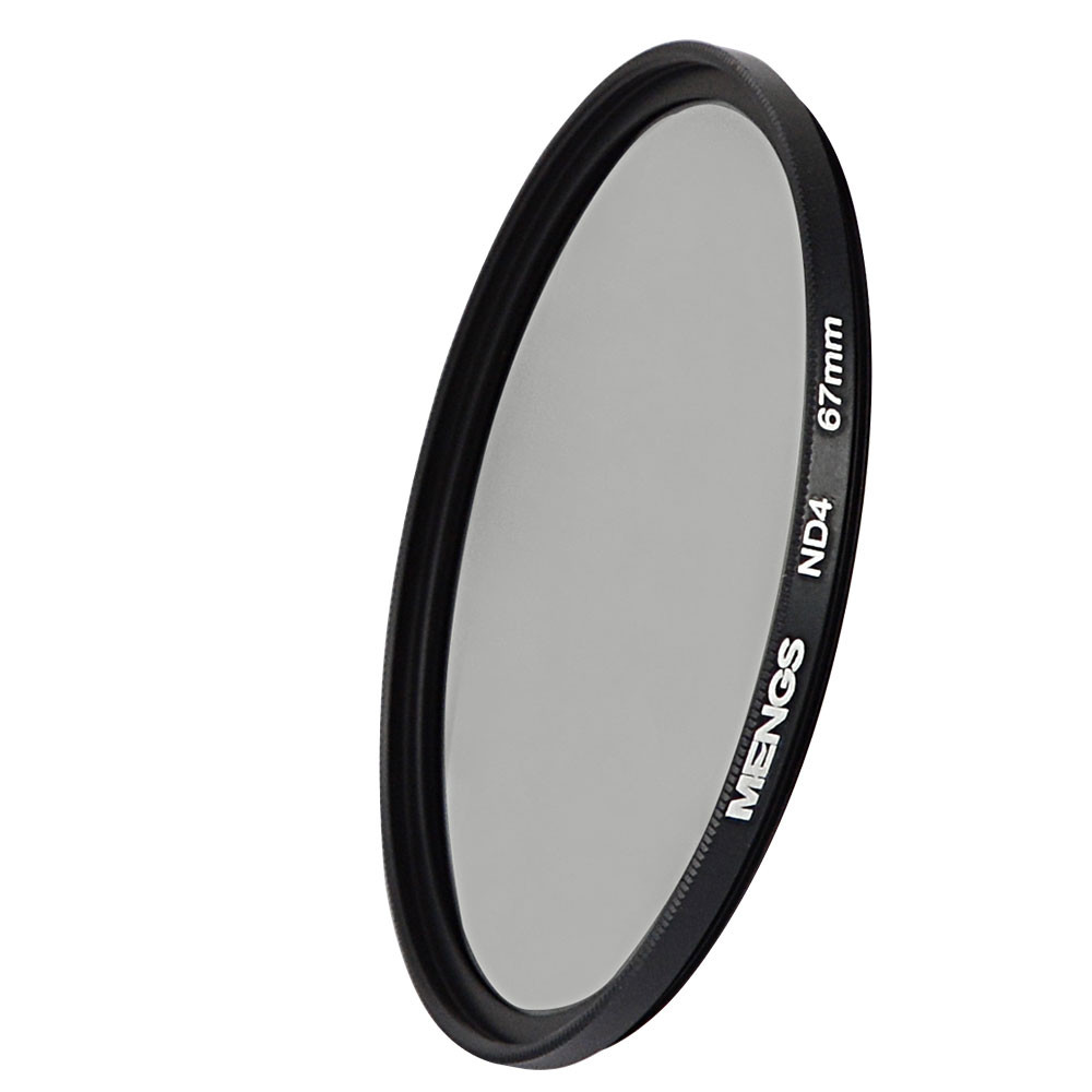 MENGS® 67mm ND4 Neutral Density Filter With Aluminum Frame for Canon Nikon Sony Fuji Pentax Olympus etc digital or DSLR camera