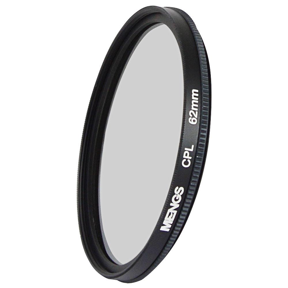 MENGS® 62mm CPL lens filter & circular polarising filter protector With Aluminum Frame for digital camera and SLR/ DSLR/ DC/ Camcorder