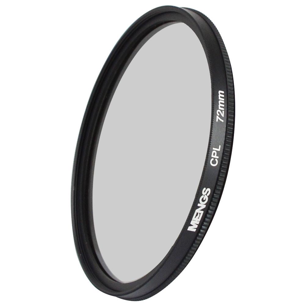 MENGS® 72mm CPL lens filter & circular polarising filter protector With Aluminum Frame for Canon Sony Nikon Fuji Pentax Olympus etc SLR camera