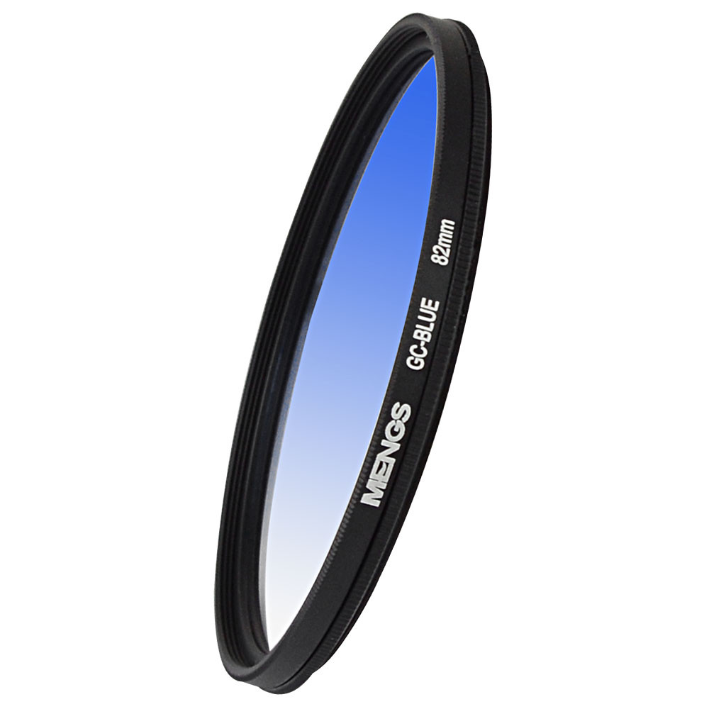 MENGS® 82mm Graduated BLUE Lens Filter With Aluminum Frame for Canon Nikon Sony Fuji Pentax Olympus etc camera